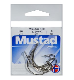 Mustad Wide Gap 1/0 Hook