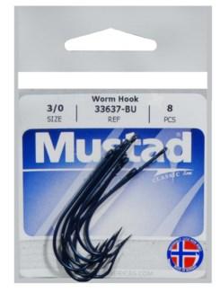 Mustad 3/0 Worm Hook