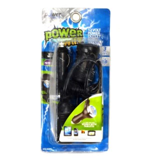 3 Port 12 Volt Power Outlet