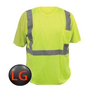 Hi Visibility T-Shirt with Pocket - LG