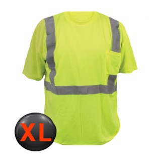 Hi Visibility T-Shirt with Pocket - XL