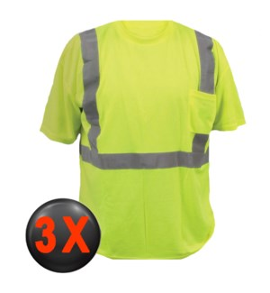 Hi Visibility T-Shirt with Pocket - 3X