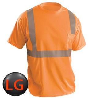 Hi Visibility T-Shirt with Pocket - Orange LG