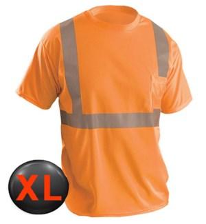 Hi Visibility T-Shirt with Pocket - Orange XL