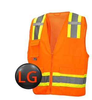 Hi Visibility Deluxe Vest - Orange LG