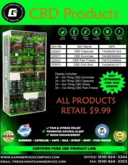 CBD Products Display