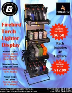 Firebird Torch Lighter Display