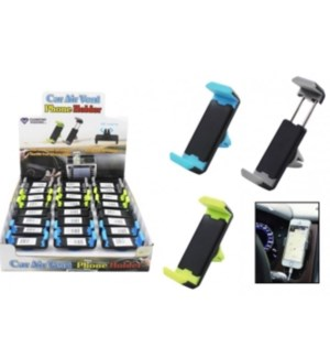 Car air vent cell phone holder