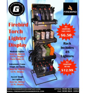 Firebird Torch Lighter Display