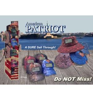 American Patriot Hat Floor Display