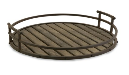 CKI Vermont Iron and Wood Tray
