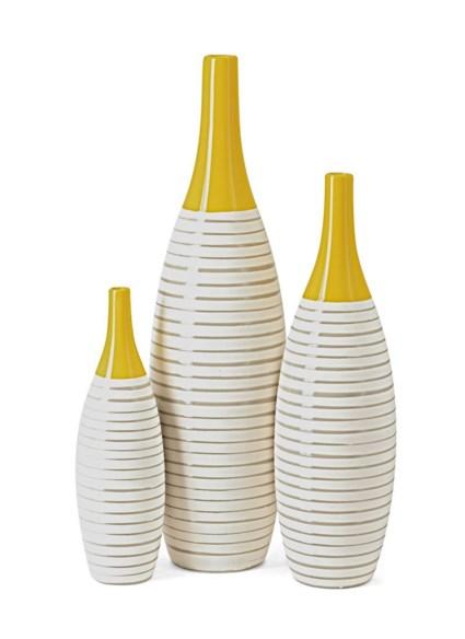 Andean Multi Glaze Vases - Set of 3