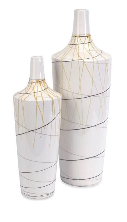 Curasso Retro Finish Vases - Set of 2