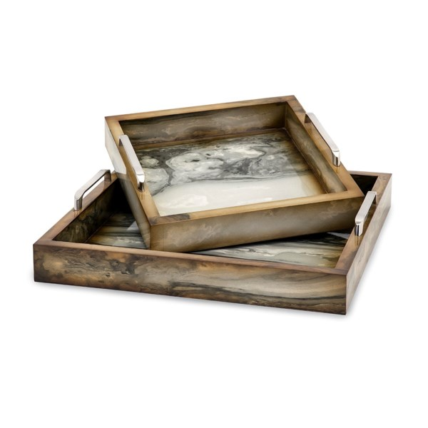 TY New Frontier Marly Decorative Trays - Set of 2