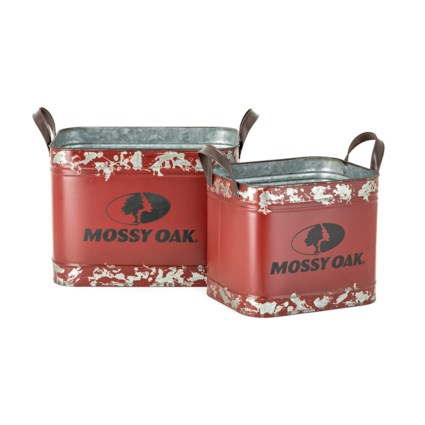Mossy Oak Red Crates - Set of 2