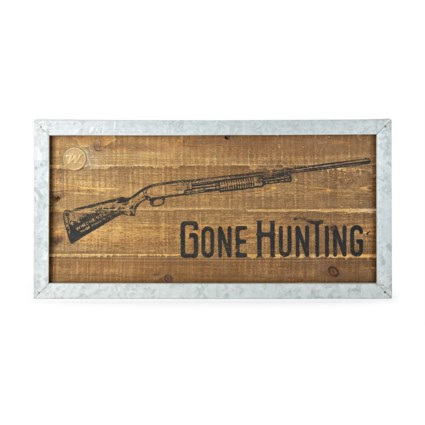 Winchester Gone Hunting Wall Sign