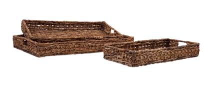 Madura Banana Leaf Trays - Set of 3