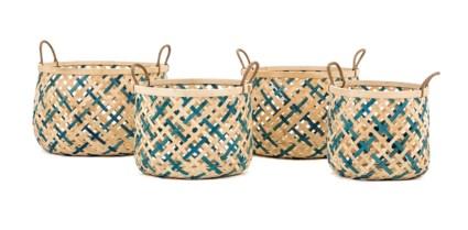 Lufkin Woven Bamboo Baskets - Set of 4