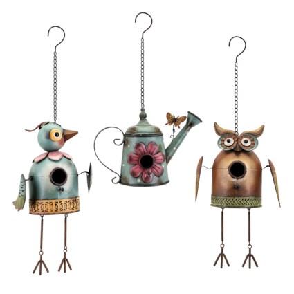 Hanging Bird House- Set of 3