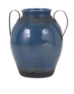 Harrisburg Large Vase with Metal Handles