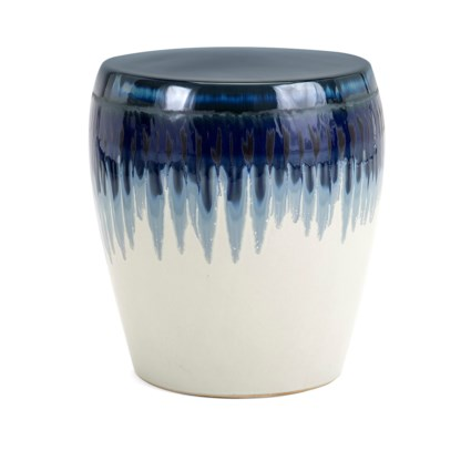 Hamako Ceramic Garden Stool Stools Imax Worldwide Home