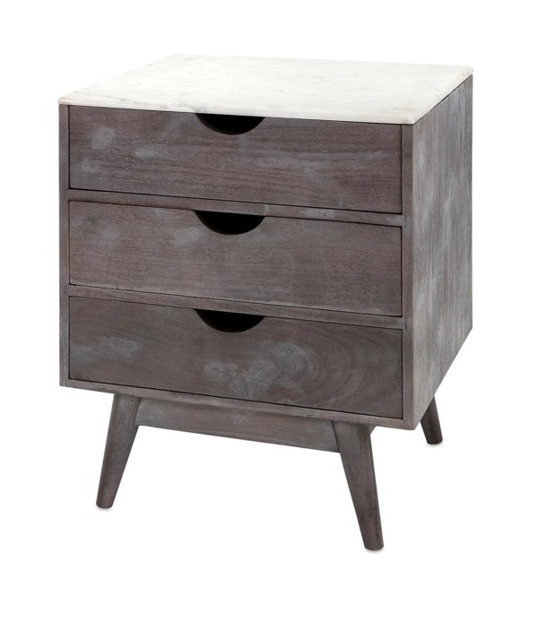Shasta Marble Top Side Table