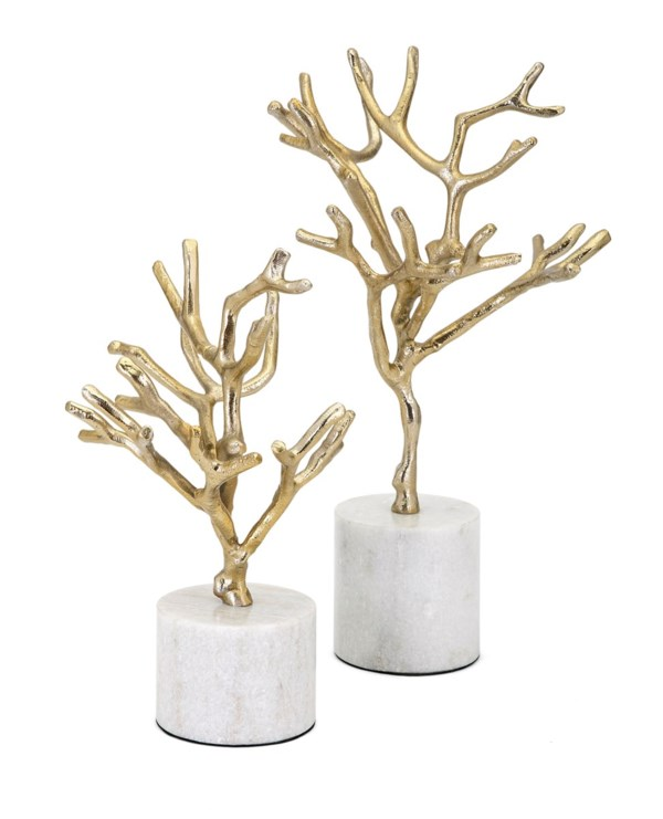 Concepts Eclipse Trees on Marble Base - Set of 2