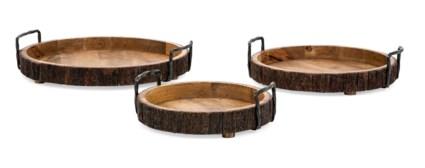 Damari Wood Trays - Set of 3