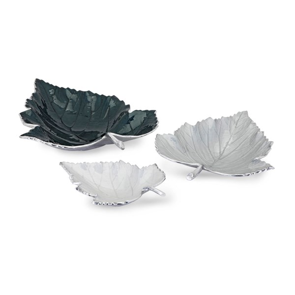 Macee Enamel Decorative Leaf Trays - Set of 3