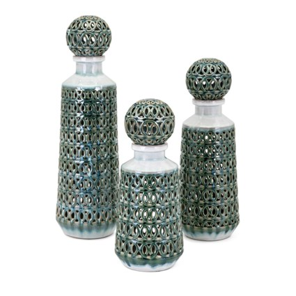 Vivian Bottles with Stopper - Set of 3