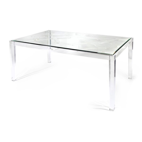 NK Vesparo Acrylic And Glass Dining Table - Nk Furniture ...