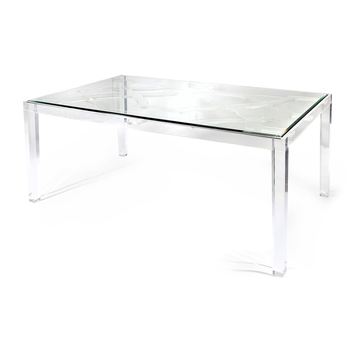 ... NK Vesparo Acrylic And Glass Dining Table