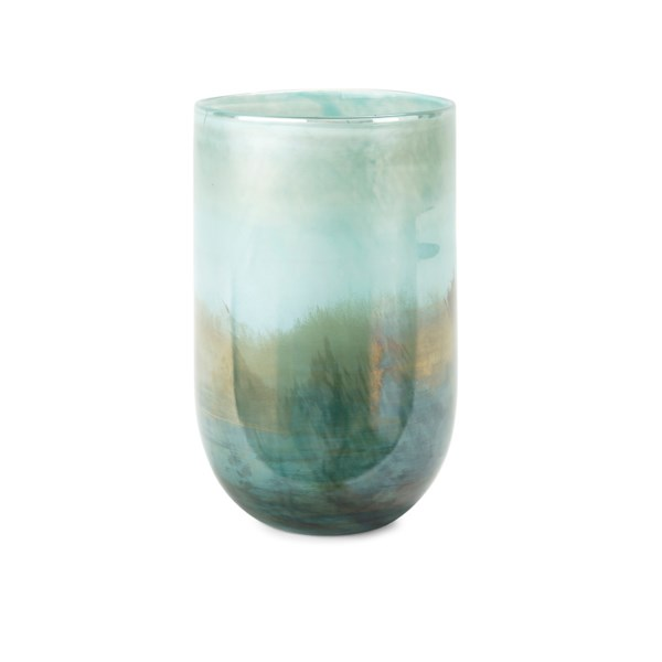 Mistry Short Art Glass Vase New Introductions Imax Worldwide Home