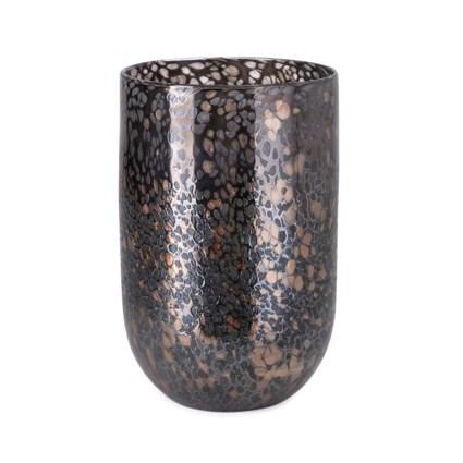 Greige Art Glass Vase