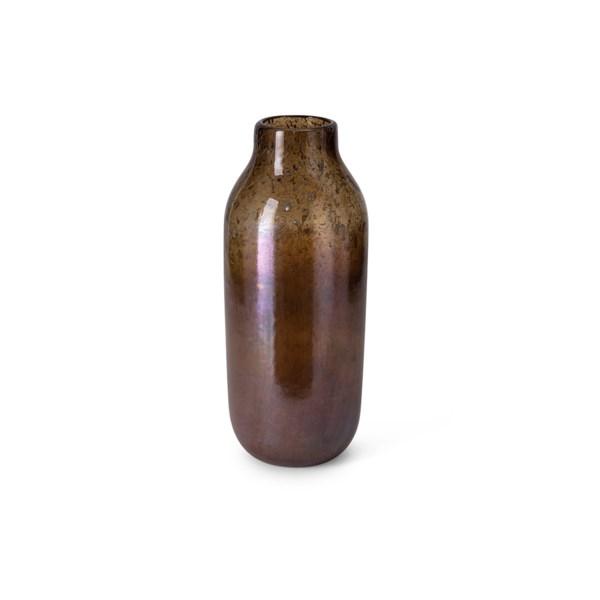 Mocha Small Art Glass Vase