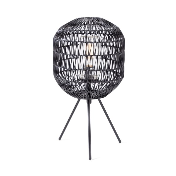 Turin Outdoor Woven Table Lamp Table Lamps Imax