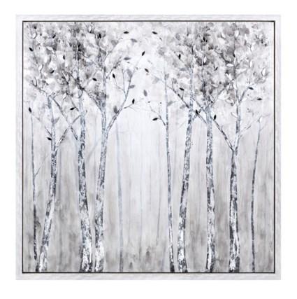 Deliniation Framed Oil Painting