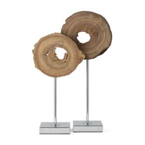 Tioga Natural Wood Statuary - Set of 2