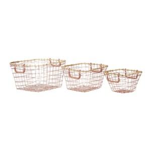 Carley Metal Baskets - Set of 3