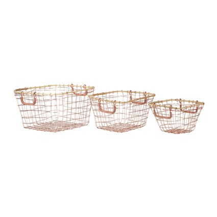 Carley Metal Baskets - Set of 3