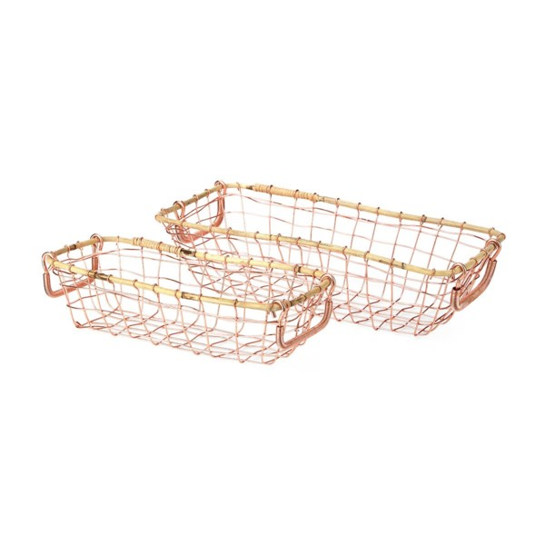 Whitby Metal Baskets - Set of 2