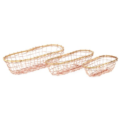 Yuri Metal Baskets - Set of 3