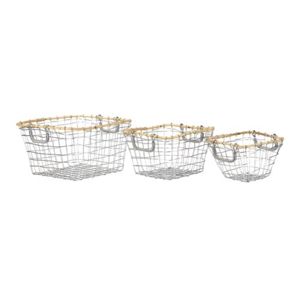 Kelby Metal Baskets - Set of 3