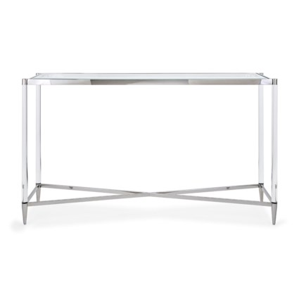 NK Belisso Acrylic and Stainless Steel Console Table