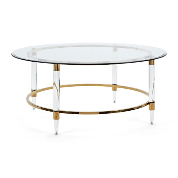 NK Dessanto Acrylic And Stainless Steel Coffee Table
