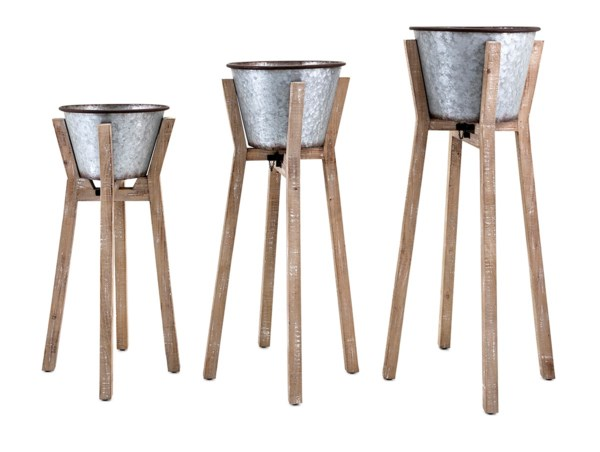 Nina Planters on Stands - Set of 3