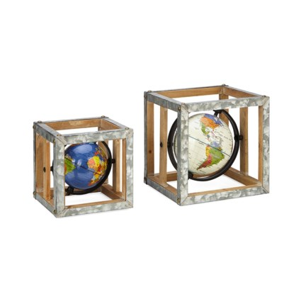Estaire Globe Wall Decors - Set of 2
