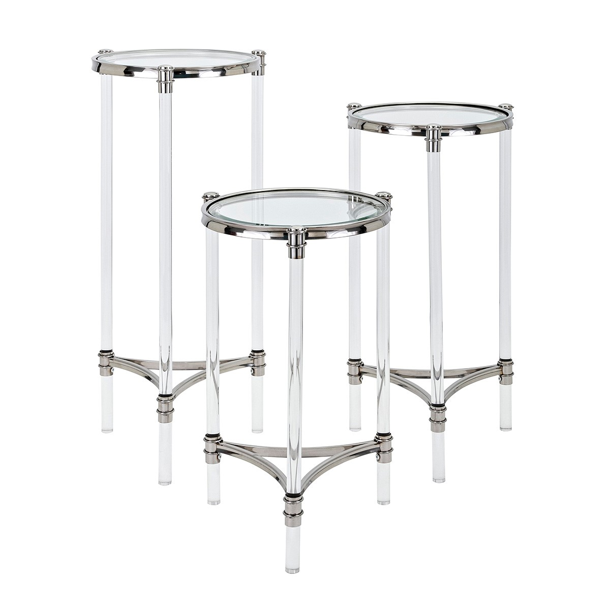 ... NK Stefford Acrylic And Glass Tables   Set Of 3