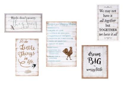 TY Songbird Inspirational Wall Decors - Set of 5