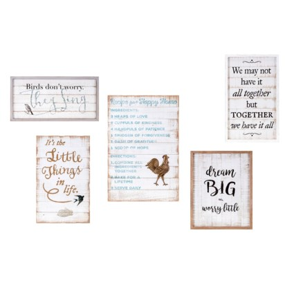 TY Songbird Inspirational Wall Decors - Set of 5